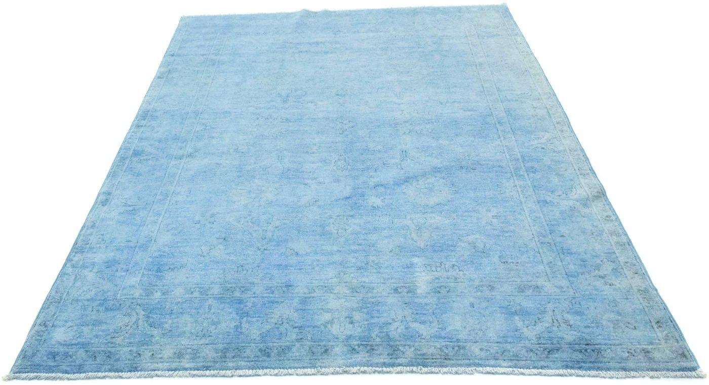 morgenland wollen kleed Ziegler Teppich handgeknüpft blau online kopen op otto.nl
