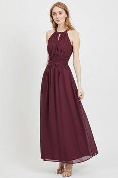 vila jurk in haltermodel »milina« rood