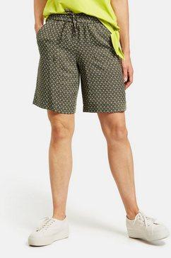 gerry weber korte vrijetijdsbroek »shorts mit grafischem muster«
