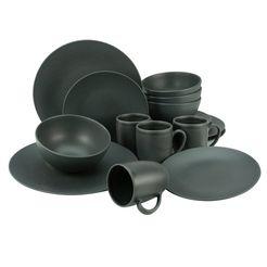 creatable »soft touch black« combi-servies zwart