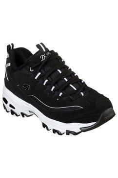 skechers sneakers »d'lites - freeze talk« zwart