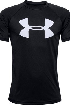 under armour functioneel shirt »tech big logo shortsleeve« zwart