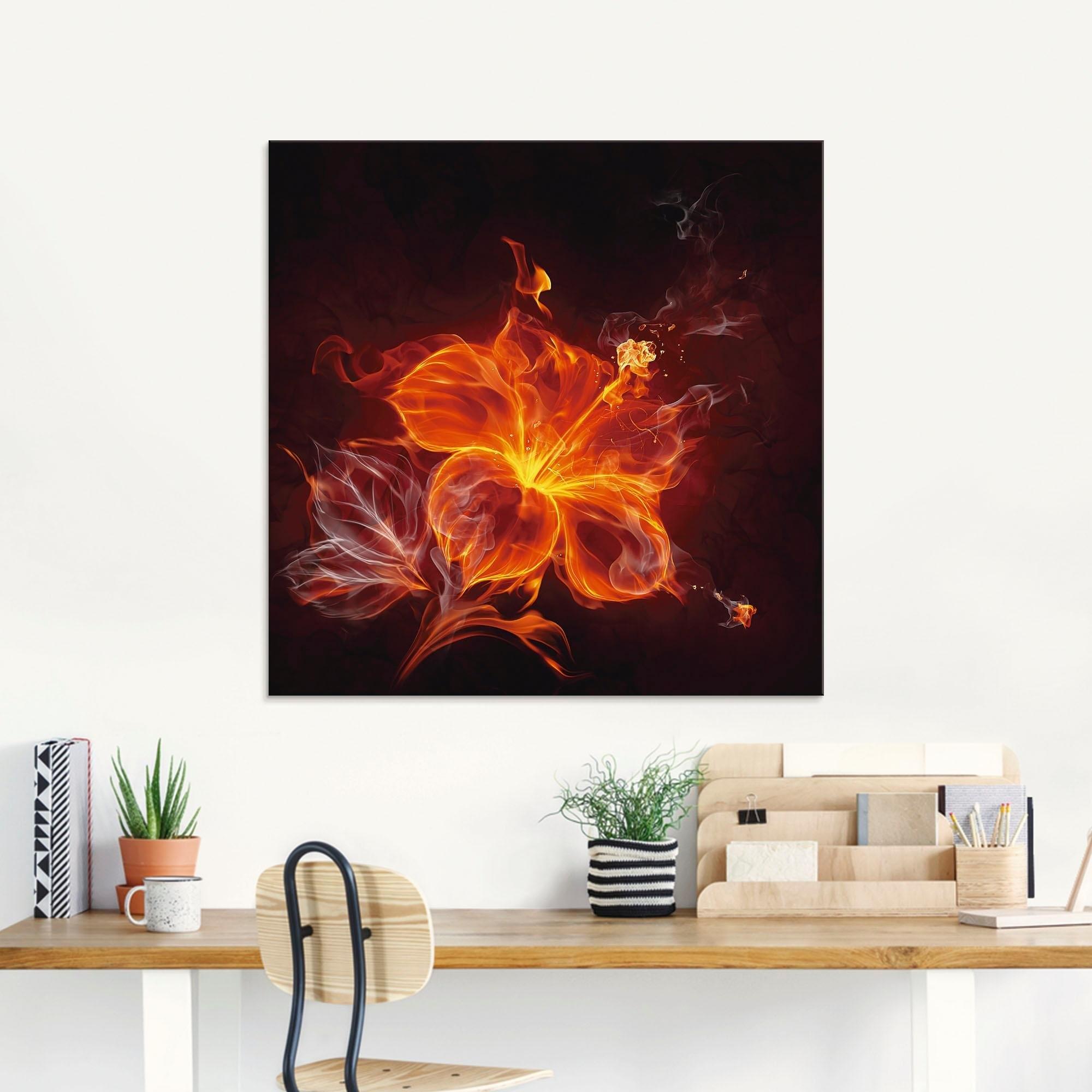 Artland print op glas »Feuerblume« goedkoop op otto.nl kopen