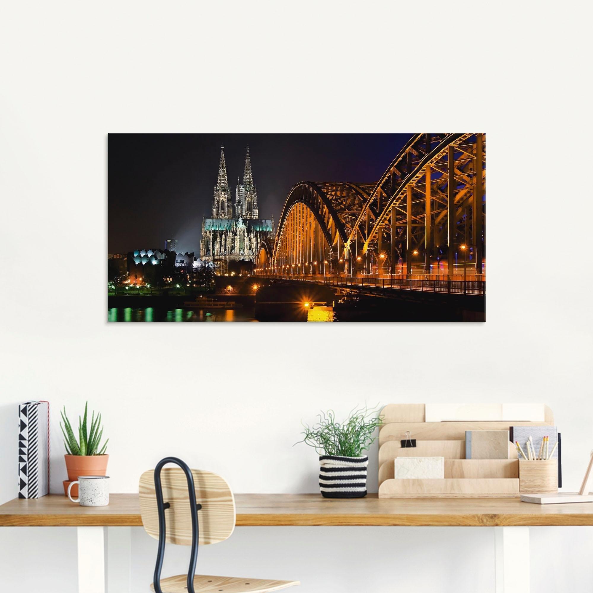 Artland print op glas »Kölner Dom« in de webshop van OTTO kopen