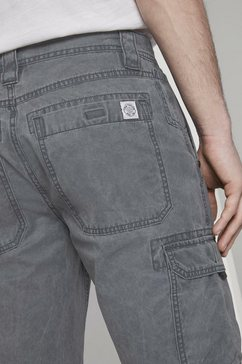 tom tailor bermuda »cargo bermuda-shorts im washed-look« blauw