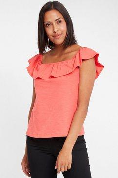 cross jeans shirt met carmenhals »55702« oranje