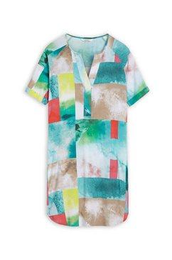 sandwich jurk met print groen
