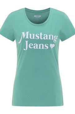 mustang t-shirt »alexia c print« groen