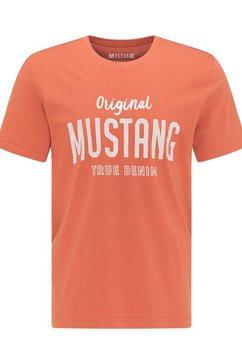 mustang t-shirt »alex c print« rood