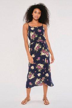 apricot gedessineerde jurk »daisy bunches cami midi dress« (met een bindceintuur) blauw