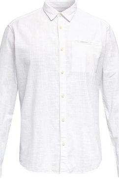 esprit overhemd met lange mouwen wit