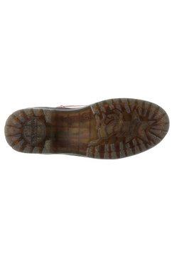 mustang shoes hoge veterschoenen rood