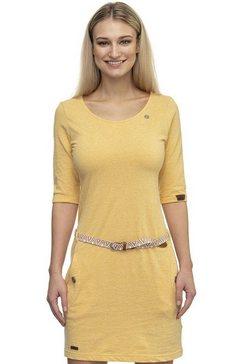 ragwear jerseyjurk »tanya solid« (met een afneembare riem) geel