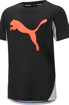 puma functioneel shirt »active sports cat graphic tee boys« zwart
