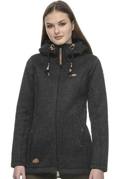 ragwear tricot-fleecejack »rubby« zwart