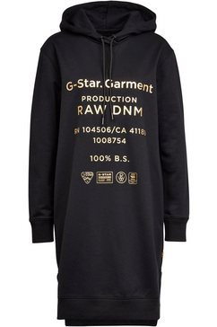 g-star raw sweatjurk »graphic text bf hdd sw dress« zwart