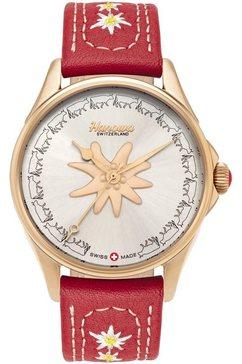 hanowa zwitsers horloge »edelweiss, 16-6096.09.001.04« rood
