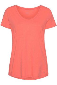 marc o'polo shirt met v-hals oranje