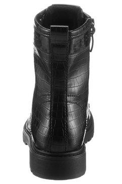 esprit hoge veterschoenen »paris croc boot« zwart