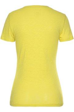 marc o'polo shirt met ronde hals geel