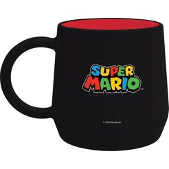 »super mario becher schwarz (355 ml)« beker zwart