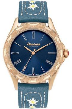 hanowa zwitsers horloge »heidi, 16-6095.09.003« blauw