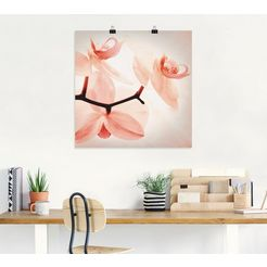 artland artprint »orchidee abstrakte collage ii« roze