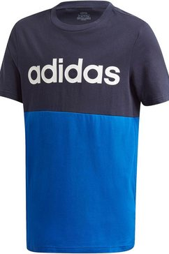 adidas performance t-shirt »youth boy linear club tee« blauw