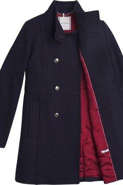 tommy hilfiger wollen jas »wo blend funnel coat« blauw