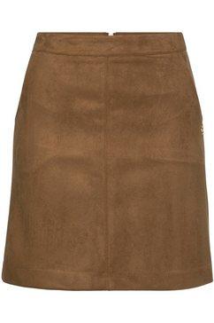 tamaris imitatieleren rok bruin