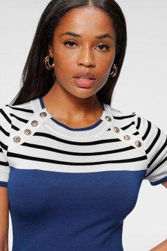melrose trui met korte mouwen blauw