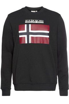 napapijri lang sweatshirt zwart