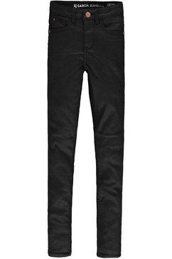 garcia geweven broek »sienna super slim« zwart