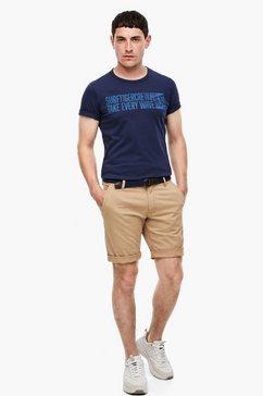 s.oliver jerseyshirt blauw