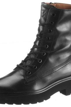 paul green hoge veterschoenen zwart