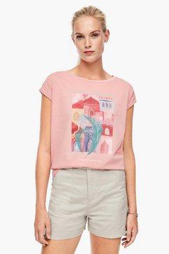 q-s designed by basic shirt met borstzak rood