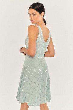 apricot jurk in a-lijn »jacquard spot dress« groen