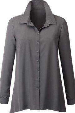 classic inspirationen blouse met lange mouwen grijs