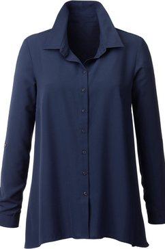 classic inspirationen blouse met lange mouwen blauw
