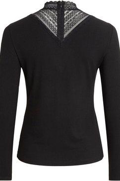 vila trui met staande kraag »visoletta spitze« zwart