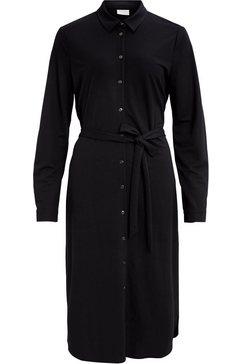 vila jurk met overhemdkraag »visafina« zwart