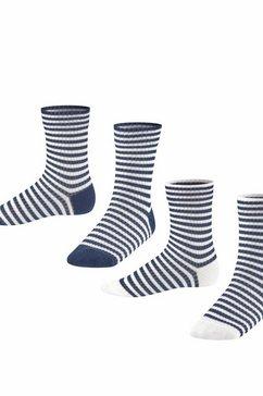 esprit sokken »sporty stripe 2-pack« blauw