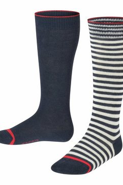esprit kniekousen »easy stripe 2-pack« blauw