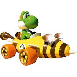carrera »mario kart - bumble v yoshi« radiografisch bestuurbare auto geel