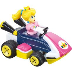 carrera »mario kart - peach« radiografisch bestuurbare auto roze