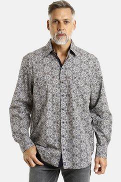 jan vanderstorm overhemd met lange mouwen »enar« zwart