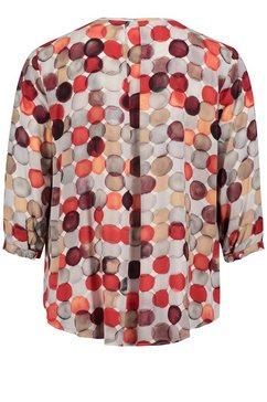 cartoon klassieke blouse »mit muster« rood