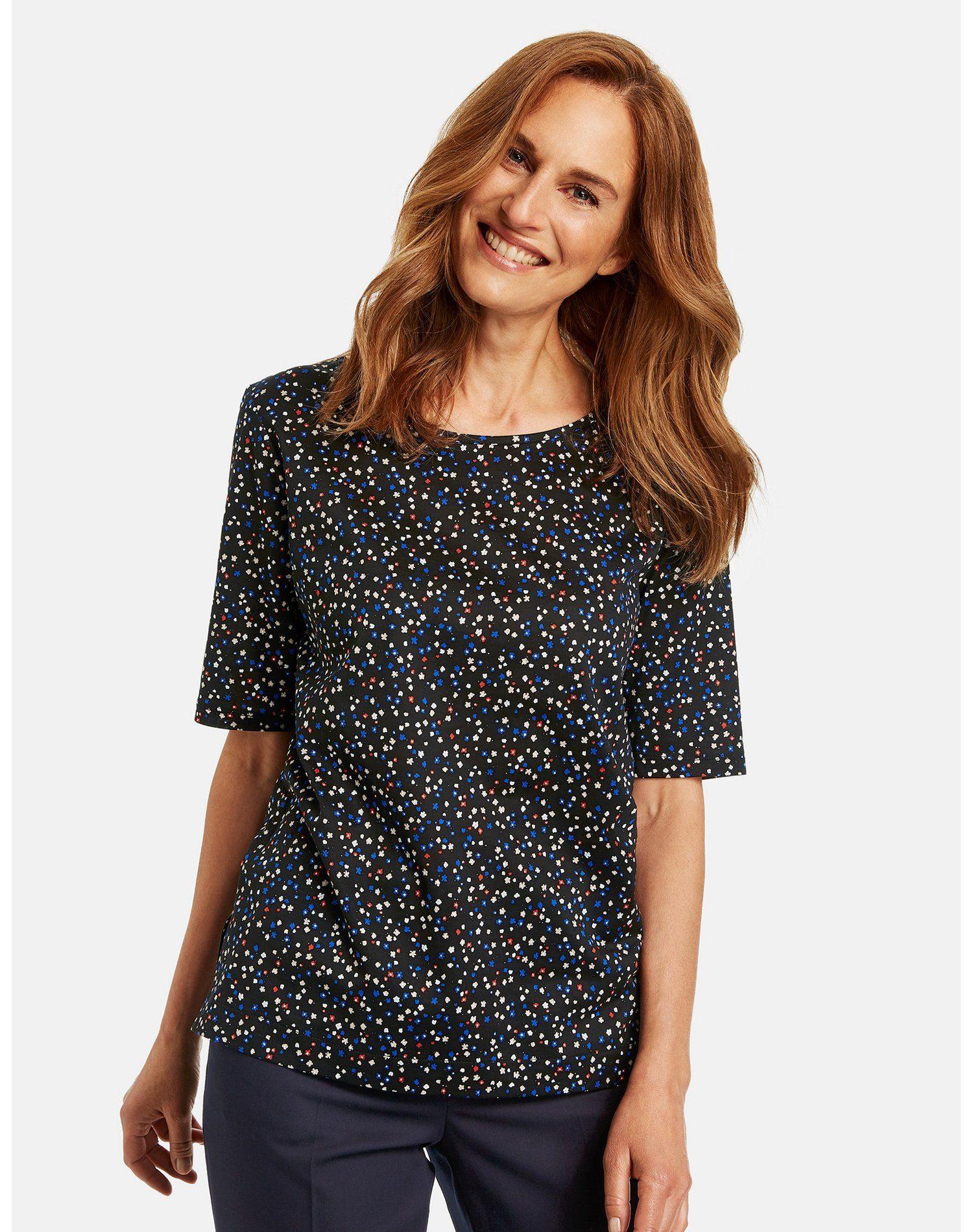 Gerry Weber Shirt Met Korte Mouwen Mit Milles Fleurs Muster Nu Online Kopen - Geweldige Prijs