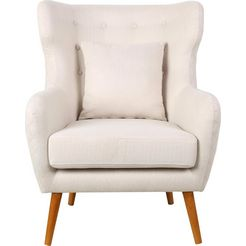home affaire oorfauteuil »niebuell« beige