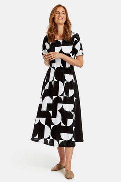 gerry weber gedessineerde jurk »kleid mit grafischem muster« zwart